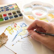 Pintando un herrerillo